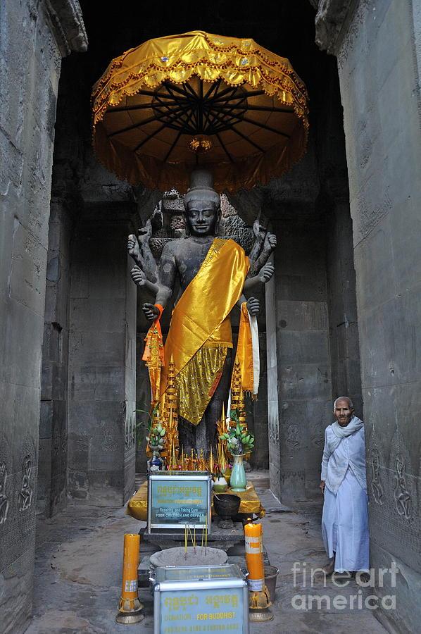 Buddha Statue At Angkor Wat Photograph