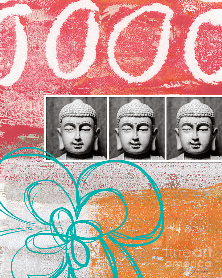 Buddha With Flower Painting