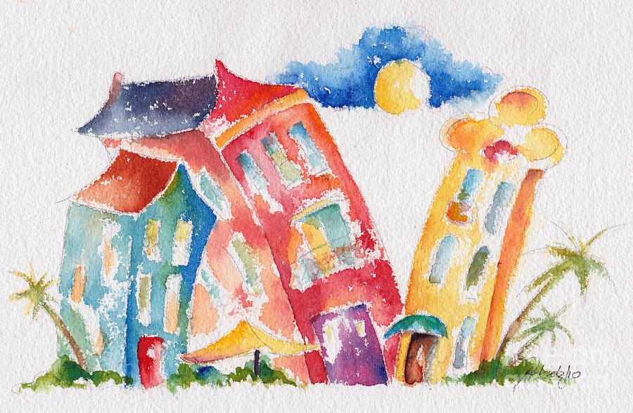 Buddy Buildings Painting
