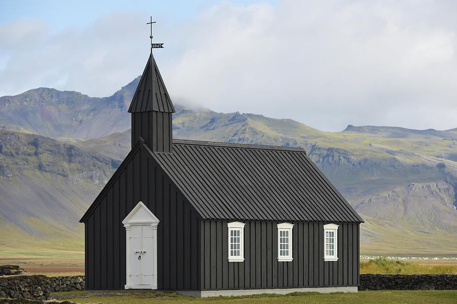 Budir Church Stadarsveit, Snaefellsnes Photograph