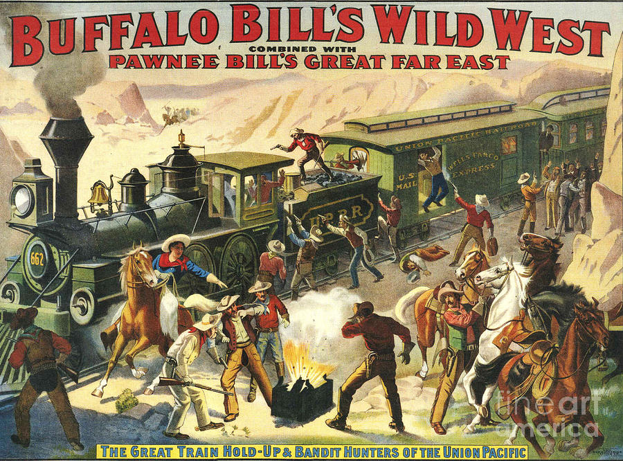 Buffalo Bill�s Wild West Show  1907 Drawing  - Buffalo Bill�s Wild West Show  1907 Fine Art Print