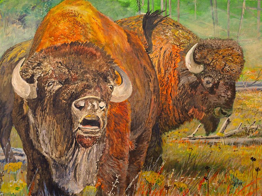 Buffalo Calling Painting