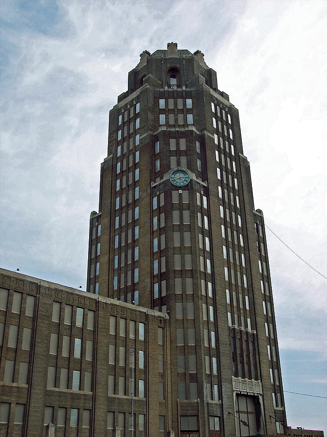 Buffalo Central Terminal Clock Tower Photograph