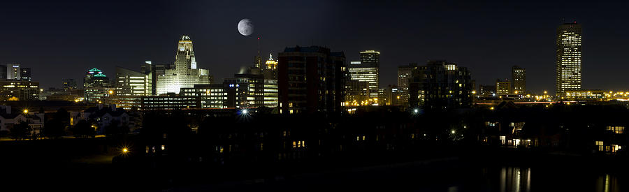 Buffalo Night Moves Photograph