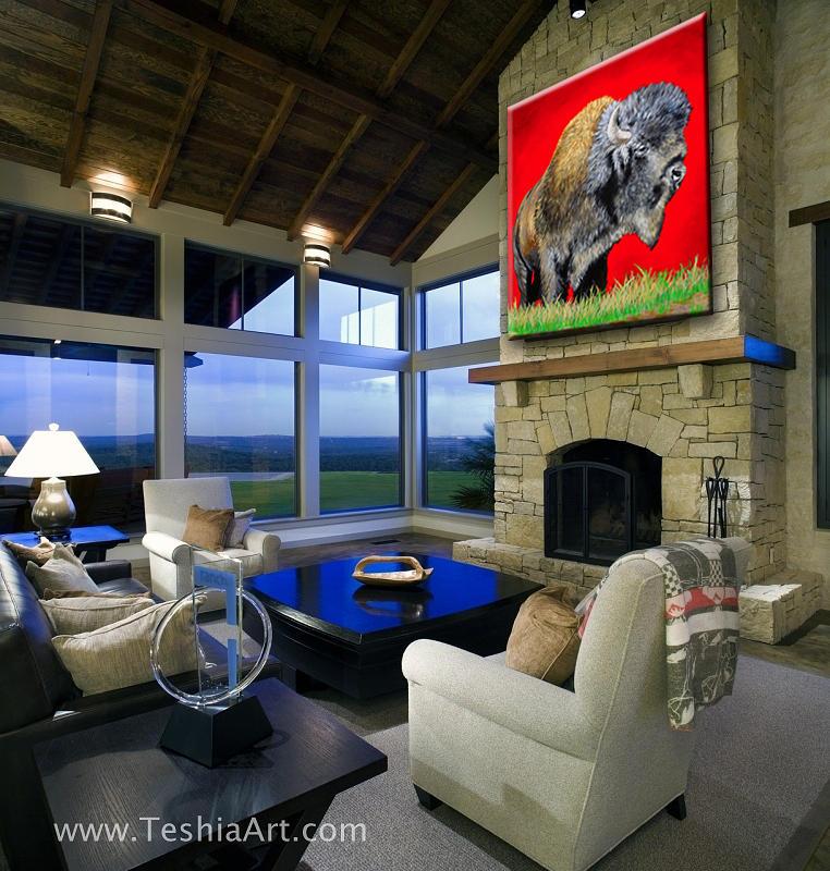 Buffalo Warrior Showcase Painting