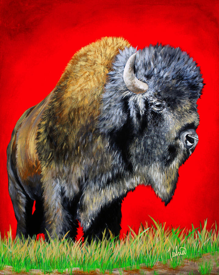 Buffalo Warrior Painting