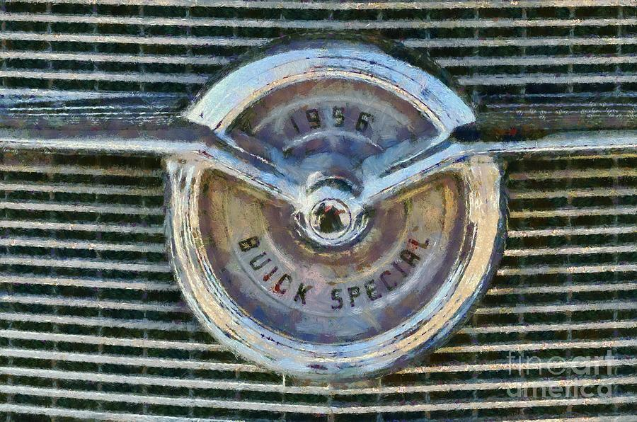 Buick Special 1956 Badge Painting