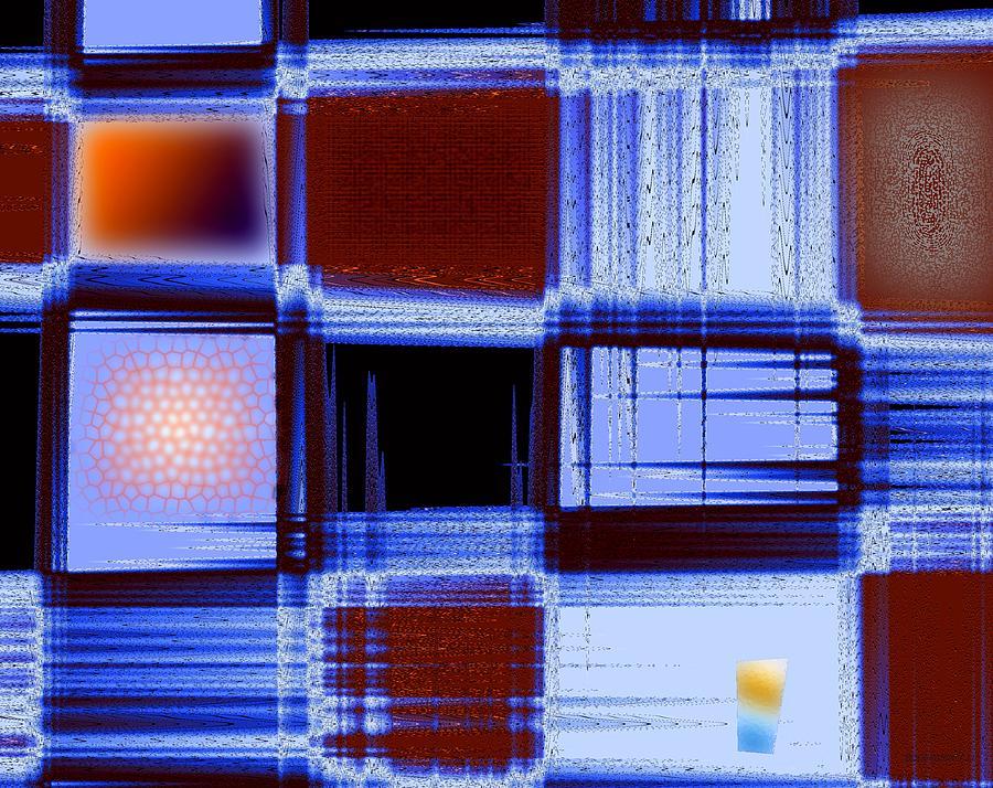 Building Facade In Abstract Art Digital Art