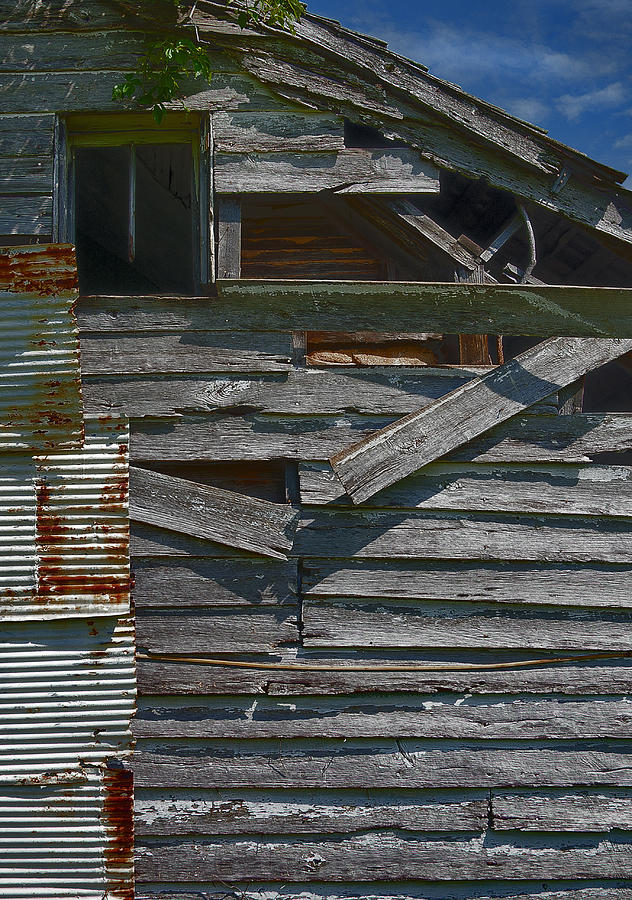 There Are Many Layers Of Material On This Old House. Photograph - Building Materials by Murray Bloom