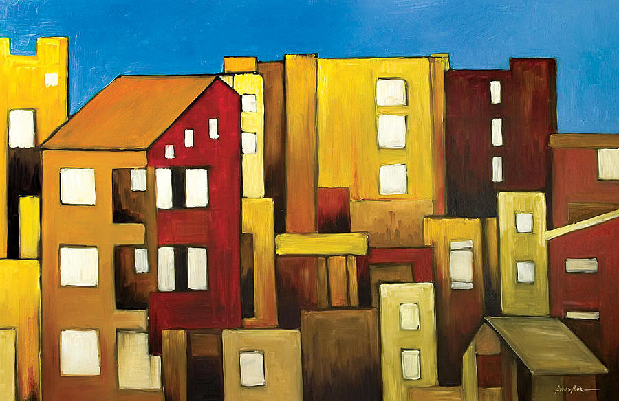 Buildings Painting  - Buildings Fine Art Print