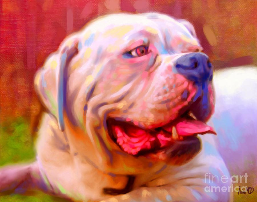 Bulldog Portrait Painting