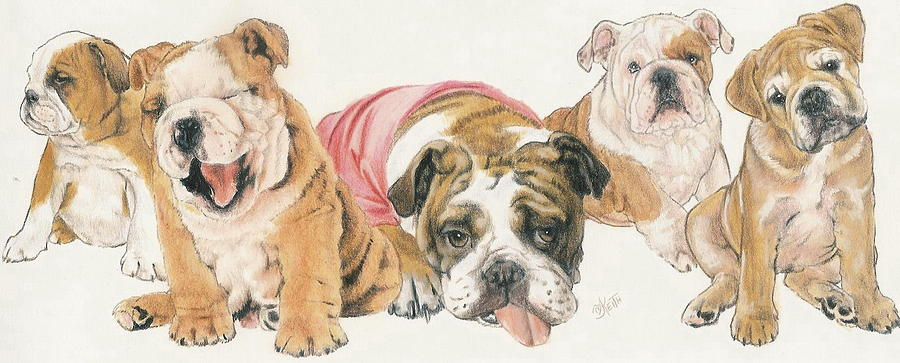 Bulldog Puppies Painting