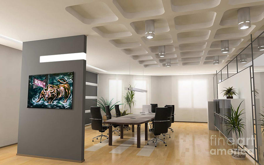 Bullish Market Conference Room Showcase Painting