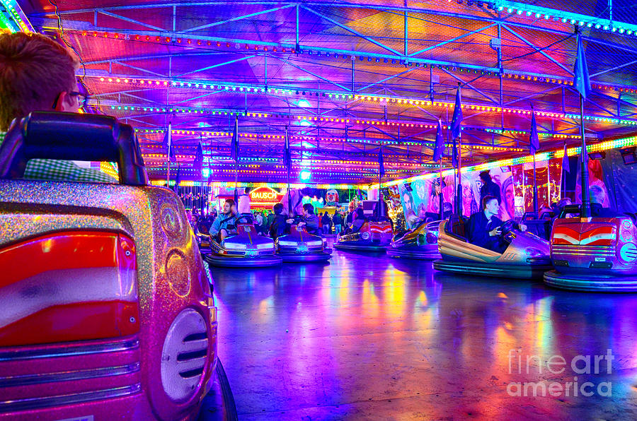 Bumper Cars At The Octoberfest In Munich Photograph By