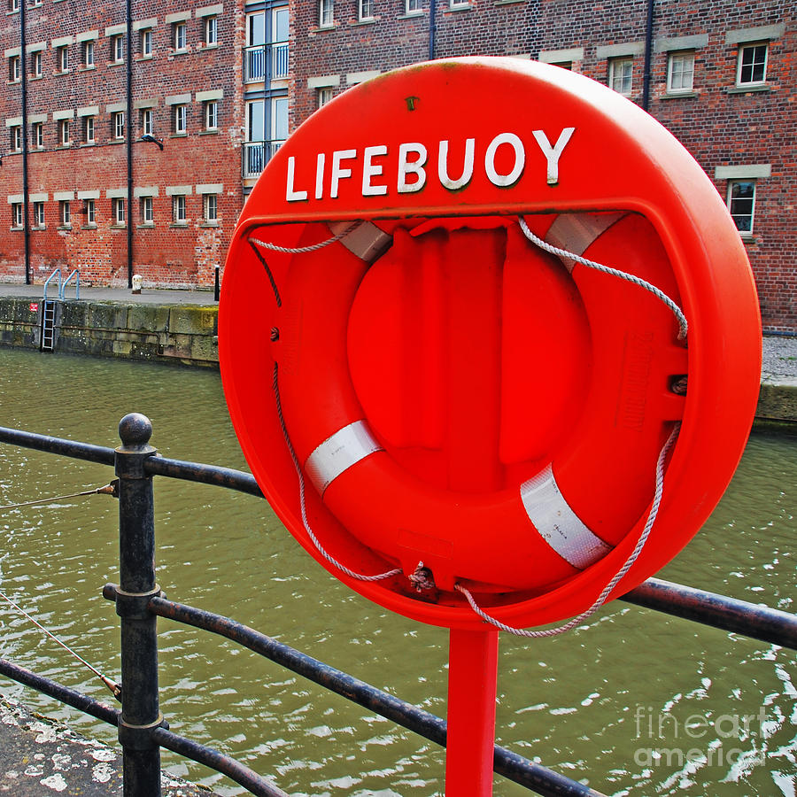 Buoy Foam Lifesaving Ring Photograph  - Buoy Foam Lifesaving Ring Fine Art Print