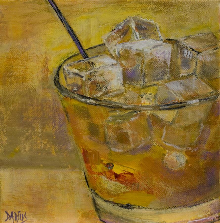 Burbon On The Rocks Painting