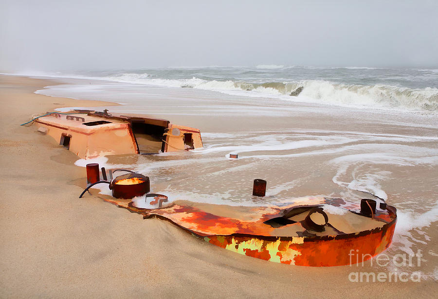 Outer Banks Painting - Buried Treasure On The Outer Banks II by Dan Carmichael