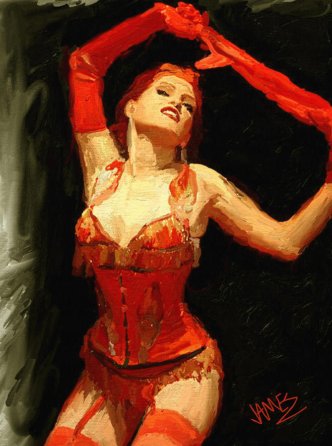 Burlesque No 5 Painting