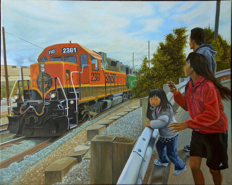 Burlington Northern Santa Fe Painting By Thu Nguyen
