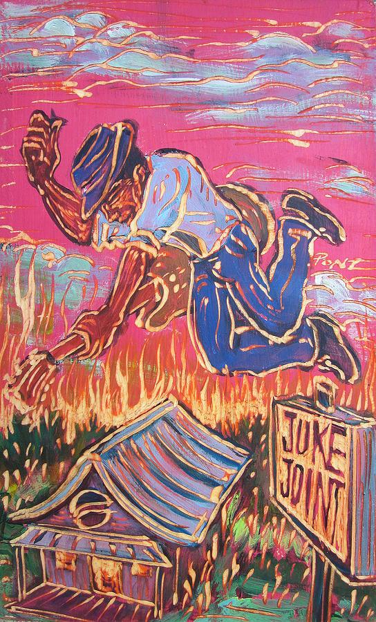 Blues Painting - Burnin It Up by Robert Ponzio