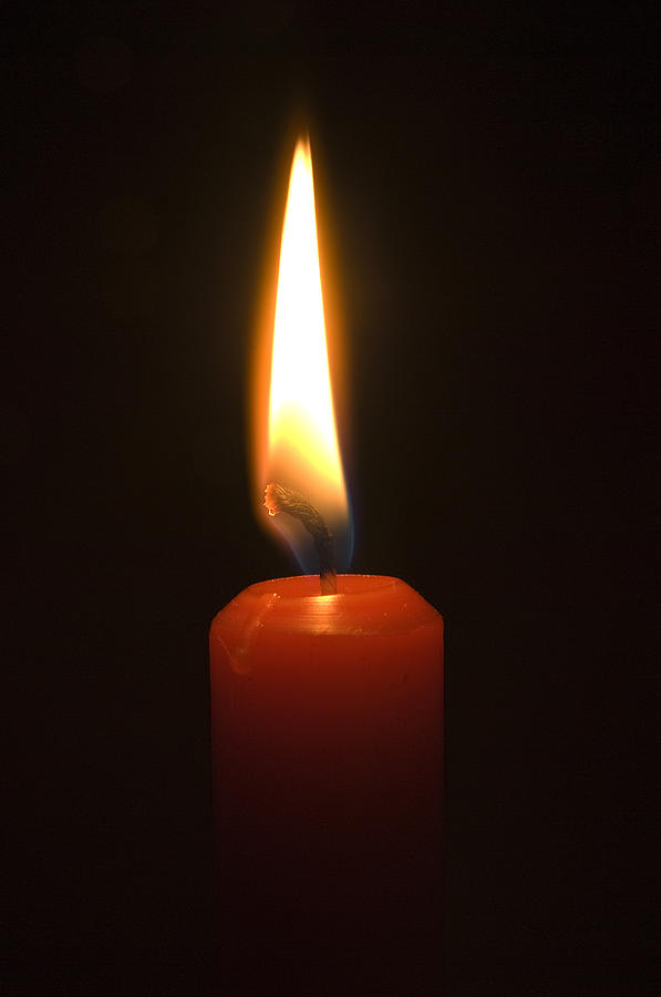 Burning Candle Photograph