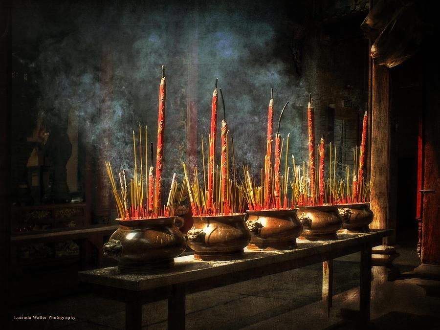 Burning Incense by Lucinda Walter