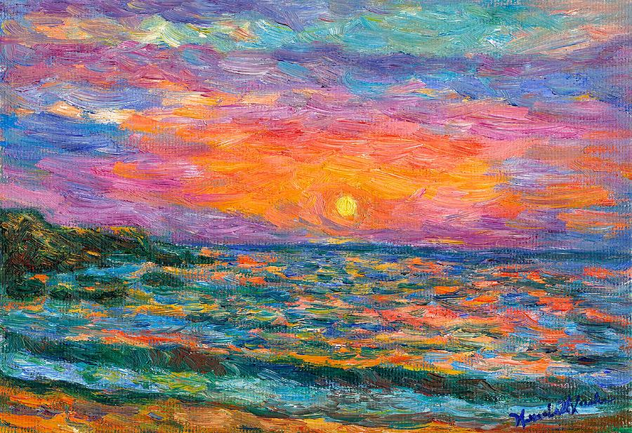 Burning Shore Painting  - Burning Shore Fine Art Print