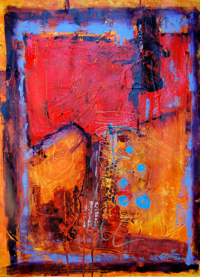 Abstract Painting - Burning Tree by Ron Stephens