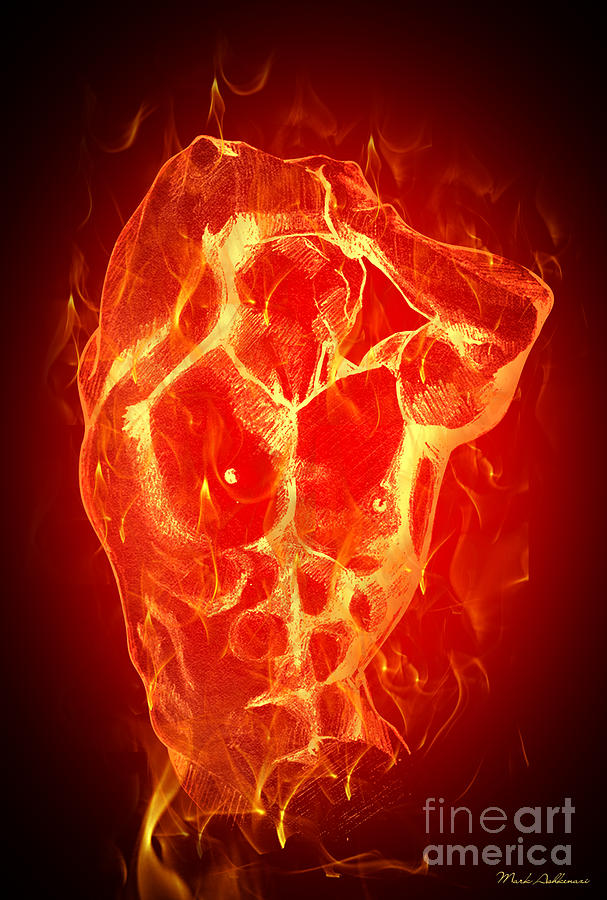 Burning Up  Digital Art  - Burning Up  Fine Art Print