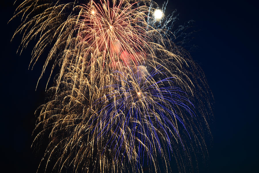 Fireworks Photograph - Bursting In Air by Ronda Broatch