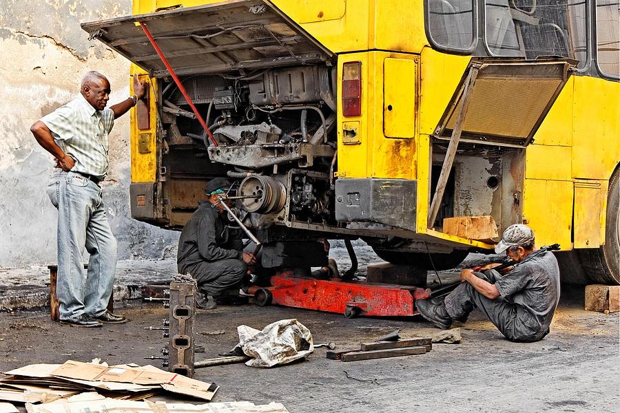 Bus Repairs Photograph