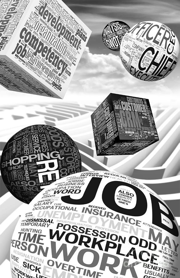 Business Related Concepts Poster Digital Art