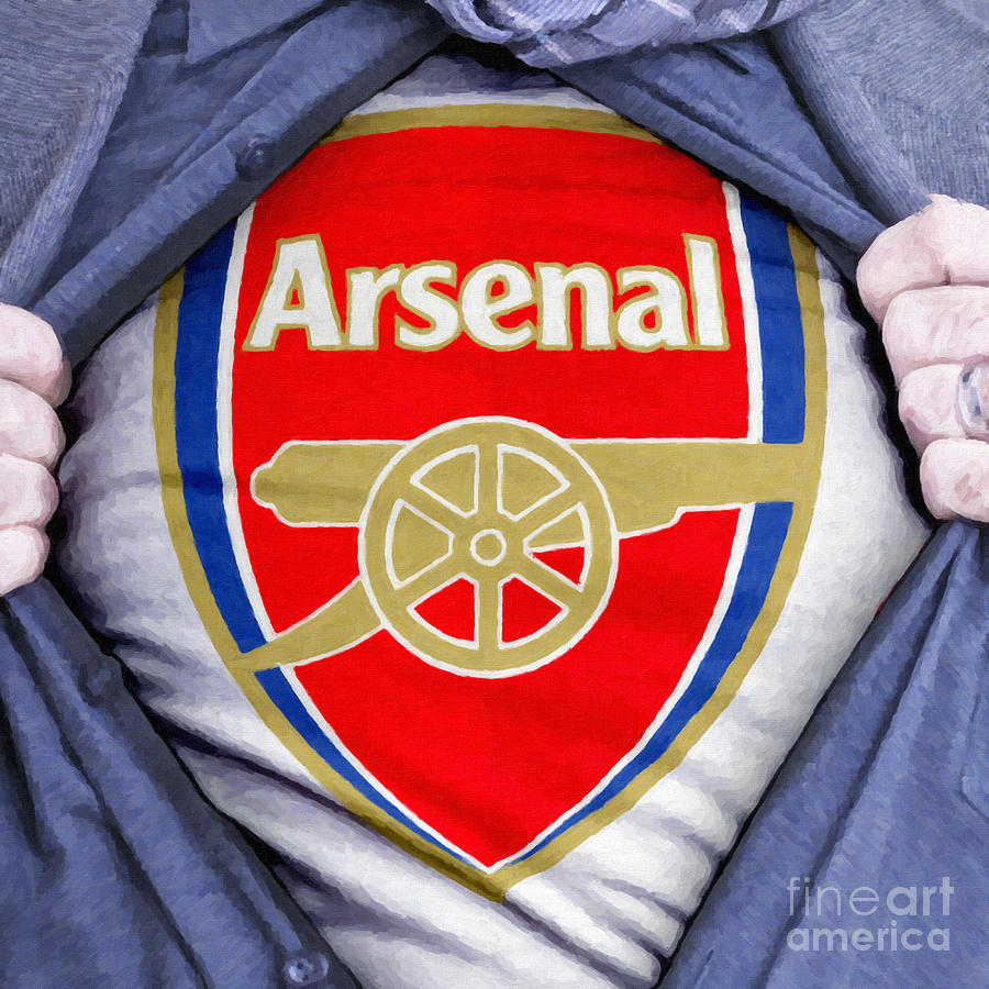 Businessman Arsenal Fan Painting