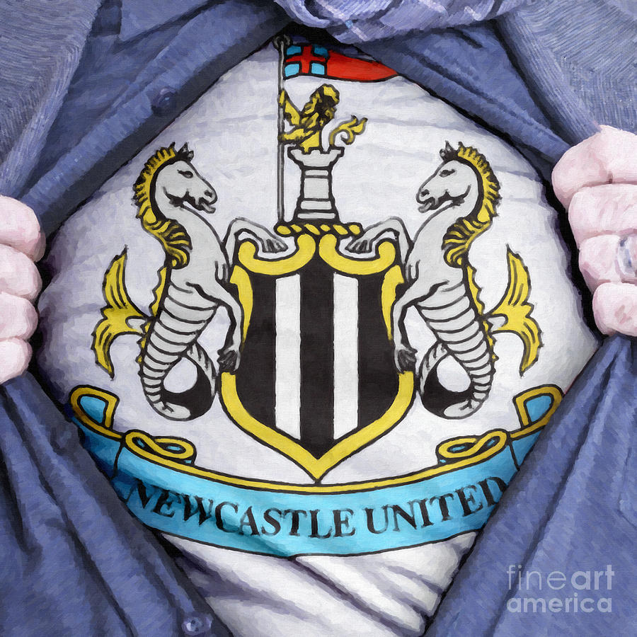 Businessman Newcastle United Fan Painting  - Businessman Newcastle United Fan Fine Art Print