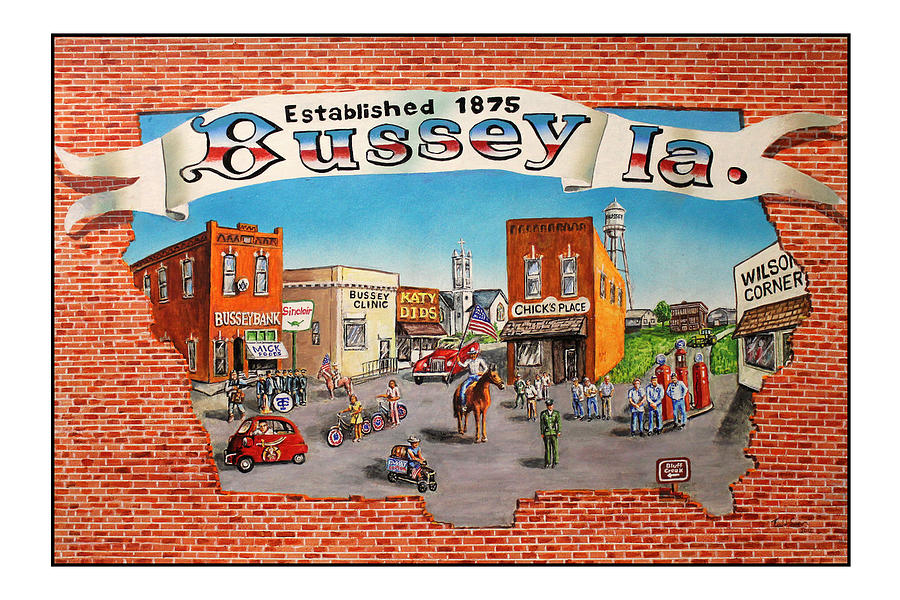 Folk Art Painting - Bussey Mural by Todd Spaur