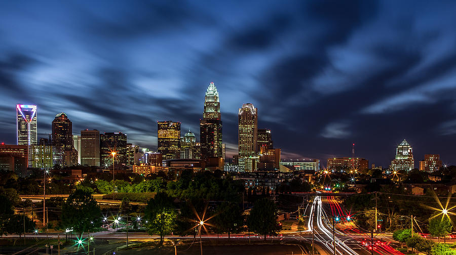 Busy Charlotte Night Photograph