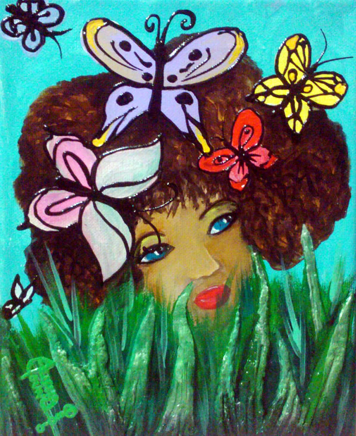 Butterflies At Play Relief  - Butterflies At Play Fine Art Print