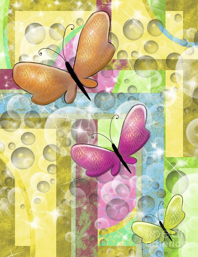 Butterfly Dreams Painting  - Butterfly Dreams Fine Art Print