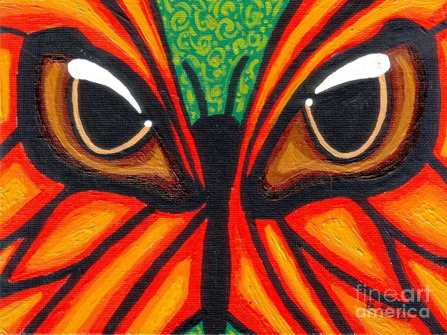Butterfly Eyes Painting  - Butterfly Eyes Fine Art Print