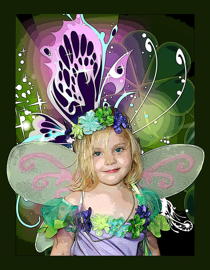 Butterfly Fairy Mixed Media  - Butterfly Fairy Fine Art Print