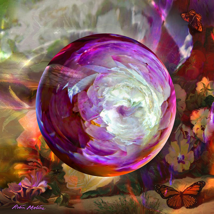 Butterfly Garden Globe Digital Art