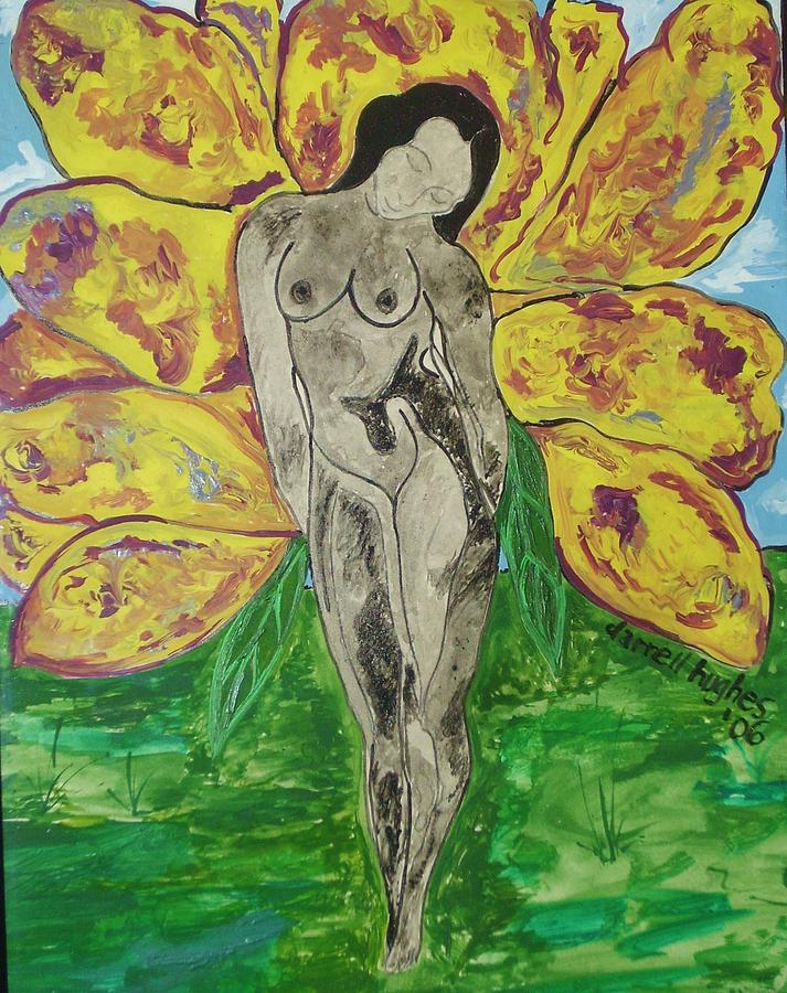 Butterfly Lady Painting