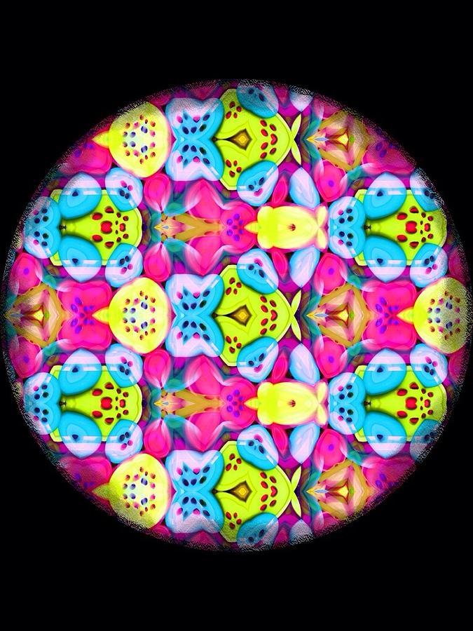 Mandala Digital Art - Butterfly Mandala by Karen Buford