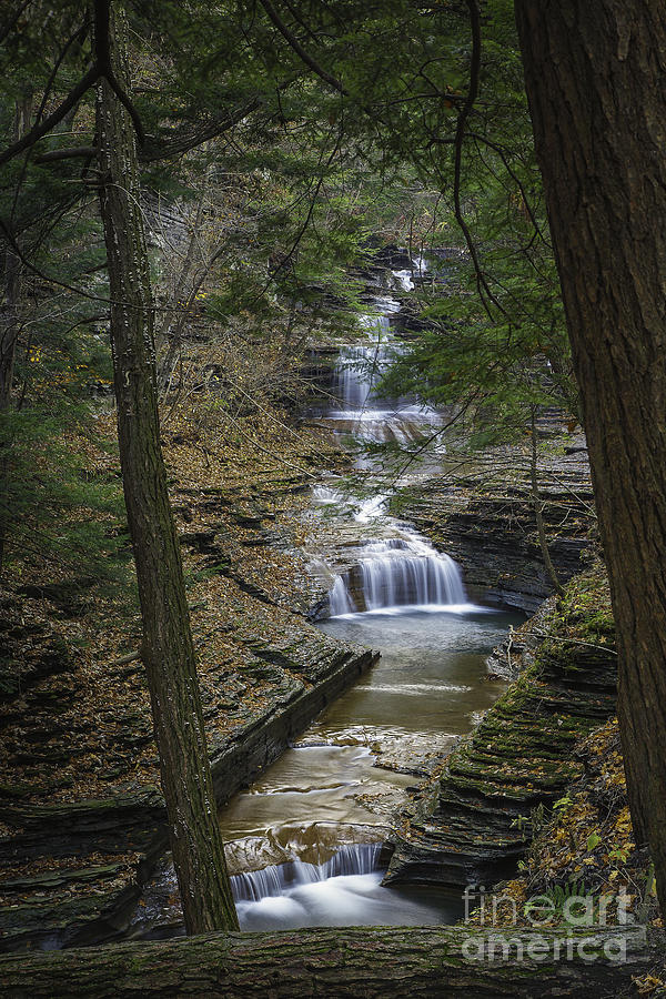 Buttermilk Falls In Autumn IIi Photograph  - Buttermilk Falls In Autumn IIi Fine Art Print