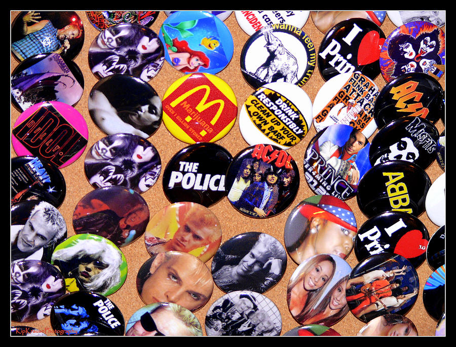 Sid Vicious Photograph - Button Crazy by Kip Krause