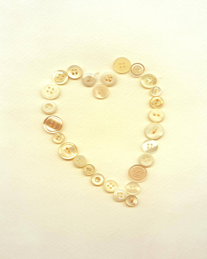 Button Heart Collage  Digital Art