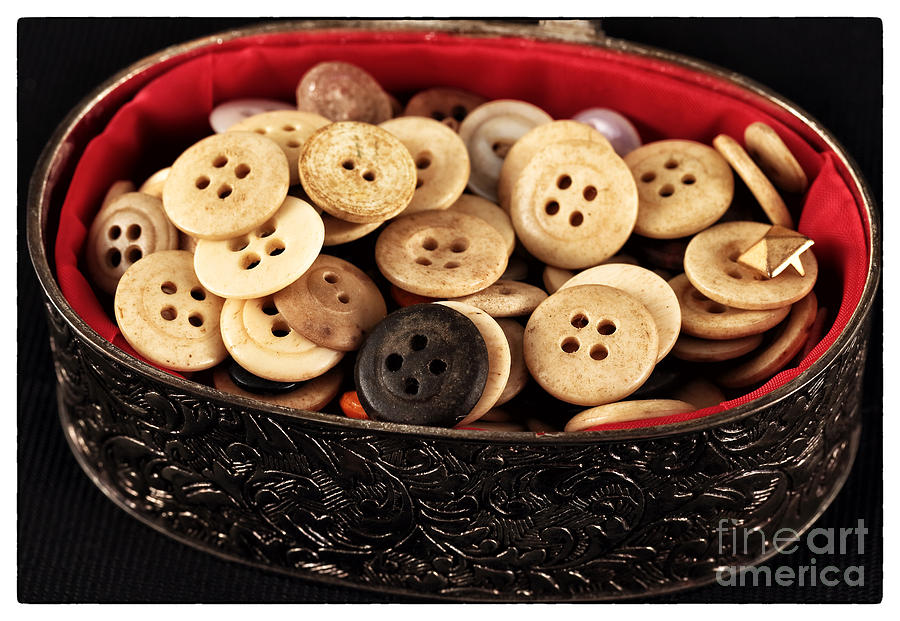 Button Treasures Photograph - Button Treasures by John Rizzuto