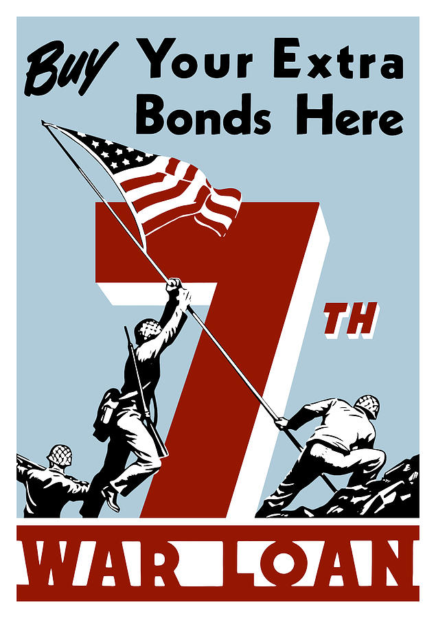 Wwii Painting - Buy Your Extra Bonds Here by War Is Hell Store