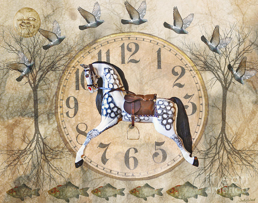 Rocking Horse Digital Art - By Land And Sea by Judy Wood