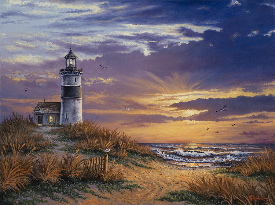 Lighthouse Painting On Wood